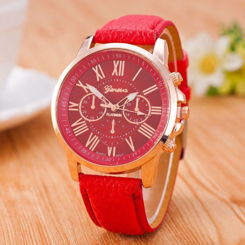שעון יד מעוצב אדום