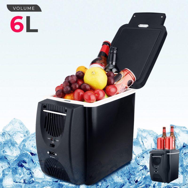 12V 45W 6L מיני מקרר 2 ב 1 משלוח-עומד פחות רעש רכב מקרר חם נייד Geladeira עבור מכוניות Coche בית קמפינג