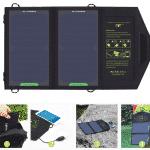 פאנל סולארי נייד ומתקפל בעל יציאת USB להטענת מכשירים על ידי השמש