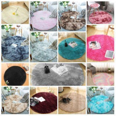שטיח פרווה עגול - מגוון צבעים