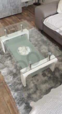 שטיח אפור לסלון